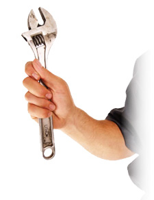 Man Holding Wrench Photo